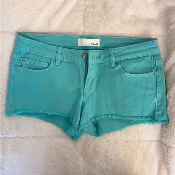 Garage teal shorts NWOT